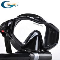 男女全干式呼吸管潜水面镜浮潜三宝套装浮浅面罩防雾