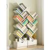 【限时抢】书架落地简约现代置物架书柜落地书架小书柜创意简易架子