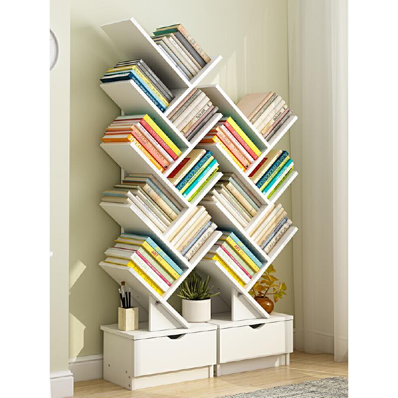 【限时抢购】书架落地简约现代置物架书柜落地书架小书柜创意简易架子 支持礼品卡+积分 破损免费补发,赠送安装工具