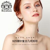 皇家莎莎耳钉女仿珍珠耳环女韩国耳坠气质简约个性耳饰品生日礼物