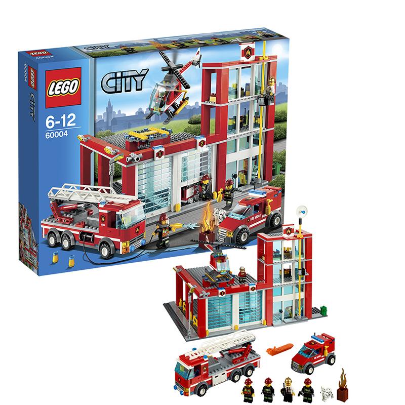 [当当自营]LEGO 乐高 CITY城市系列 消防总局 积木拼插儿童益智玩具 60004 【当当自营】适合6-12岁,752pcs 小颗粒积木