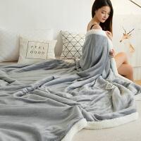 冬天盖的厚毯子冬天毛毯加厚加绒保暖冬季双层珊瑚羊羔绒毯子午休小被子双人情侣
