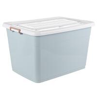 衣服收纳箱塑料整理箱收纳盒工具箱宿舍玩具床底 储物箱三件