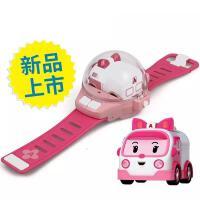 ?手表遥控车警车社会人手表珀利安巴无线迷你汽车儿童玩具礼物? 官方标配