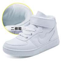 厚底增高毛毛鞋小�W生小白鞋�和�白鞋秋冬季新款加�q男童白色�\�有�女童小白鞋男小�W生帆布鞋srr