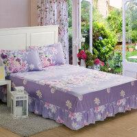 全棉床裙单件纯棉防滑床罩席梦思保护套1.5m/1.8米荷叶边床单裙罩