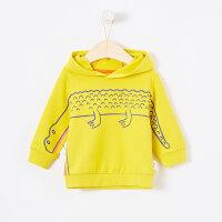 【5.15日抢购价:45】moomoo童装男幼童卡通针织套头衫新款春上衣