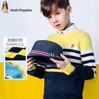 【3件3折:92.7元】暇步士童装新款春装男童圆领针织衫大童套头衫线衣儿童毛衣