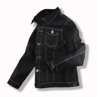 春夏季男士牛仔外套男夹克修身黑色男装青年牛仔上衣服外褂韩版潮 X