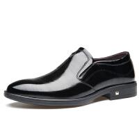英伦男士真皮套脚皮鞋商务正装尖头皮鞋韩版潮流男鞋皮鞋新郎婚鞋