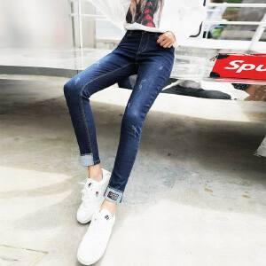 牛仔裤女夏季长裤2018春秋新款韩版显瘦夏装紧身小脚