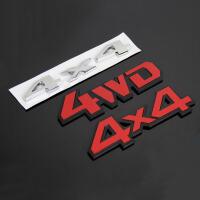 适用于斯巴鲁森林人傲虎XV力狮驰鹏4X4车标四驱贴标尾门标志