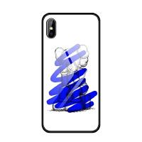 苹果iphoneX 6s 7 8 plus 5se蓝光玻璃手机壳潮牌KAWS芝麻街酷