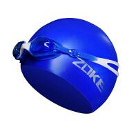 平光游泳眼镜 儿童泳镜泳帽套装男童女童通用护耳高清