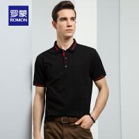 Romon罗蒙短袖POLO衫男中青年夏季薄款t恤商务休闲翻领男士T恤衫