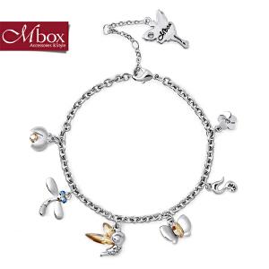 新年礼物Mbox手链 女韩国版采用施华洛世奇元素水晶情侣闺蜜手链 守护天使