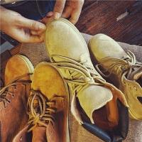 欧洲站秋季新款真皮短靴女靴厚底马丁靴英伦风复古平跟机车靴女鞋