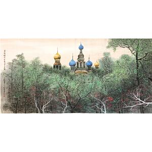 刘懋善《欧洲风情》著名画家