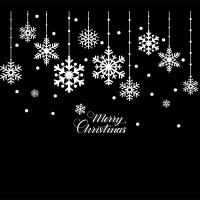 新年圣诞雪花玻璃贴圣诞节装饰品窗花贴纸橱窗贴店铺窗户贴画墙贴 #20