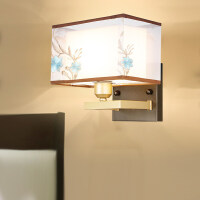 雷士照明 新中式铁艺壁灯现代中式装饰书房灯卧室灯客厅壁灯灯具
