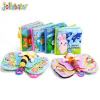 jollybaby宝宝布书早教婴儿响纸撕不烂6-12月0-1岁益智玩具认知布书