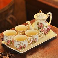 水杯套装英式下午茶茶具套装茶杯陶瓷杯子家用咖啡杯套装欧式杯具jk0