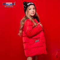 【到手参考价:191.7】铅笔俱乐部童装2018冬装女童加厚羽绒服中大童外套儿童连帽羽绒服