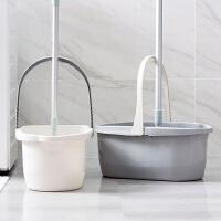 长方形拖把清洗桶加厚手提塑料桶平板拖把桶家用清洁桶水桶洗车桶