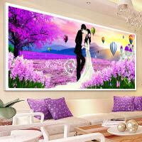 家居家居钻石画满钻客厅卧室点贴钻十字绣结婚系列婚礼喜庆简约现代砖石画 图片色