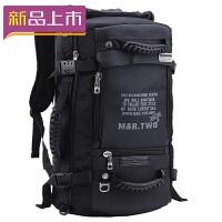 2018大容量背包双肩包男多功能三用户外旅行休闲登山包出差旅游行李包 黑色标准版