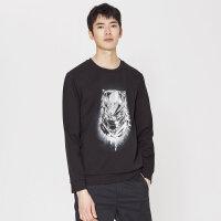 【2件2.5到手价:106.5】MECITY男装春季漫威《黑豹》合作款印花套头卫衣