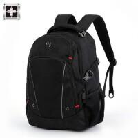 2018新款瑞士军刀双肩包男士高中学生书包男女休闲商务电脑包背包