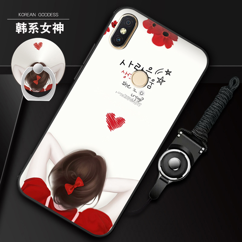 小米mix2s手机壳MlX2S保护套5.99寸硅胶软壳mi简约个性创意男少女情侣款潮牌全包边磨砂防摔
