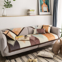 现代简约时尚沙发垫布艺防滑沙发套罩全包靠背巾全盖坐垫四季通用