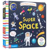 动手找事实 太空 英文原版 纸板书 Super Space First Facts and Flaps 宇宙知识启蒙