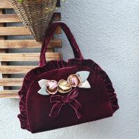 民族风女包迷你手提包小布包中年妈妈手拿布艺包包老年人零钱包