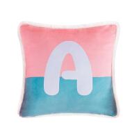 彩色字母沙发靠垫软靠背护腰网红床头靠枕抱枕套不含芯少女心