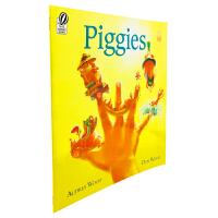进口英文原版绘本 Piggies 小猪们 吴敏兰推荐英文书单 亲子睡前图画故事书 低幼儿早教英语读物 平装 5-8岁