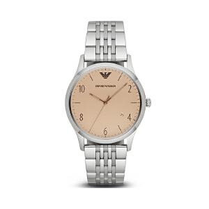 阿玛尼(Emporio Armani)手表精钢表带男士商务休闲复古石英表男士腕表AR1881
