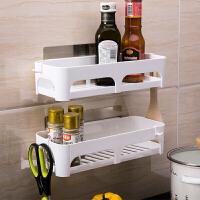 双庆浴室吸盘置物架收纳架塑料厨房卫生间置物架壁挂厕所沥水架子