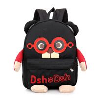宝宝书包1-3-5岁幼儿园男童可爱韩版大班儿童旅游背包男双肩包潮6 黑色小号 1-3岁