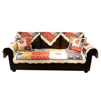 纯手工拼接沙发垫四季防滑纯棉组合布艺地中海风格沙发套罩巾 地中海风情