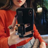 网红苹果X手机壳女iPhone7plus腕带支架6s新款xs时尚max个性8 iphone X (5.8)