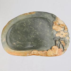 中国非物质文化遗产传承人群 钟景锐作品《荷塘鱼乐》茶盘 绿端