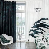 北欧窗帘成品卧室客厅遮光帘网红风窗帘布现代简约遮光布