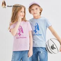 【抢购价:69元】暇步士童装男童短袖T恤夏季新款儿童圆领衫女童棉中大童半袖