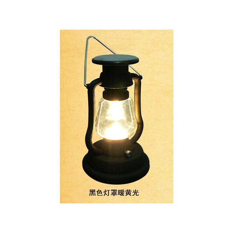 户外太阳能帐篷灯充电马灯LED复古煤油灯露营应急可手摇发电挂灯 黑色复古马灯暖光 发货周期:一般在付款后2-90天左右发货,具体发货时间请以与客服协商的时间为准