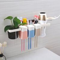 家居生活用品浴室吸盘牙刷架卫生间漱口杯洗漱套装壁挂刷牙杯架子免打孔牙具架