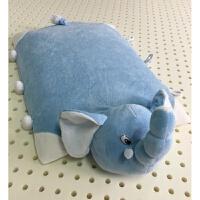 卿拾梦泰国乳胶儿童宝宝可爱卡通大象动物枕头抱枕小孩趴趴枕 蓝色 大象