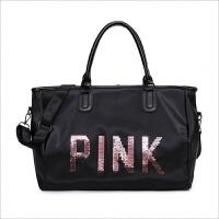 防水拉杆行李包女健身包短途旅行包女士手提包运动包大容量行李袋 大